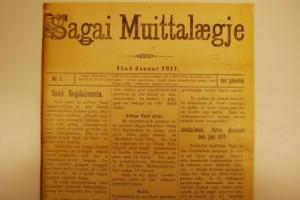 Sagai Muittalægje var en samisk avis som kom ut 1904-1911. Foto: Sámi Arkiiva