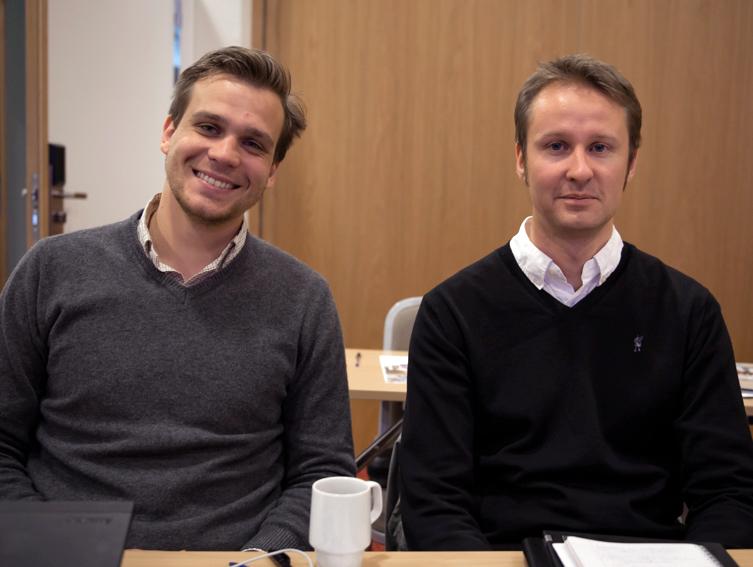 Juristene ved Nasjonalbiblioteket Cyrille Nolin og Esben Bakjord. Foto: Hannele Fors