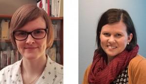 Ida Kjeilen Thuv (t.v.) og Anne Karen Hætta skal samle inn protokoller, brev og saksdokumenter, regnskapsmateriale og fotografier fra glemte grupper. Foto: Sonja Siltala/Finnmark fylkesbibliotek.